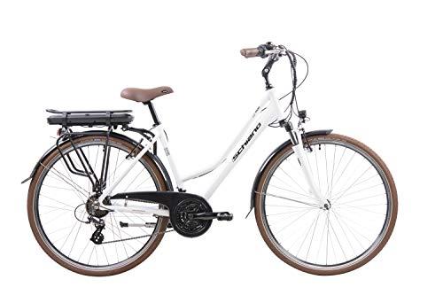 F.lli Schiano E- Ride Bicicleta, De Las Mujeres, Blanca, 28 ''