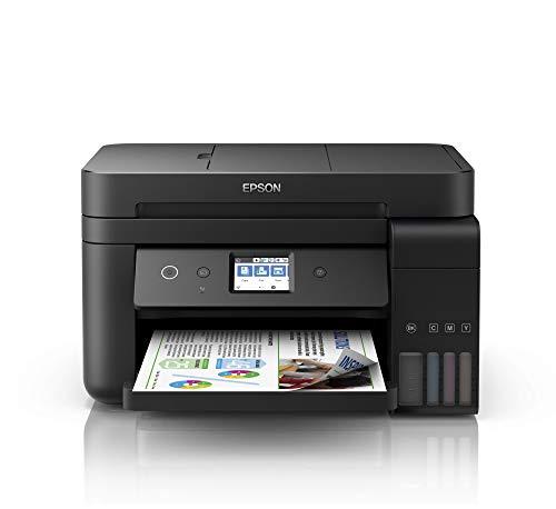 Epson EcoTank Et-4750 Stampante Inkjet 4-in-1, Stampa Fronte/Retro, Fax, Velocit di Stampa 15 ppm, Connettivit Wi-Fi e App, Nero