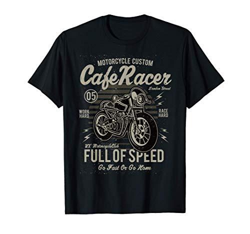 スピードバイク好きがいっぱいのカフェレーサー Tシャツ