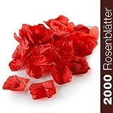 WeddingTree 2000 pétales de Roses Rouges en Vrac - Déco Romantique pour...
