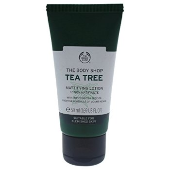 The Body Shop Tea Tree Mattifying Lotion Suitable for Blemished Skin, 1.69 Ounce