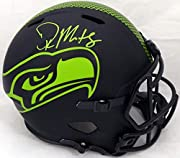 Free Shipping Certificate of Authenticity Hand signed by DK D.K. Metcalf DK D.K. Metcalf Autographed Seattle Seahawks Eclipse Black Full Size Speed Replica Helmet MCS Holo