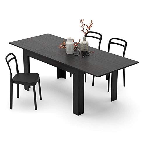 Mobili Fiver, Tavolo allungabile Cucina, Easy, Frassino Nero, 140 x 90 x 77 cm, Nobilitato, Made in Italy, Disponibile in Vari Colori