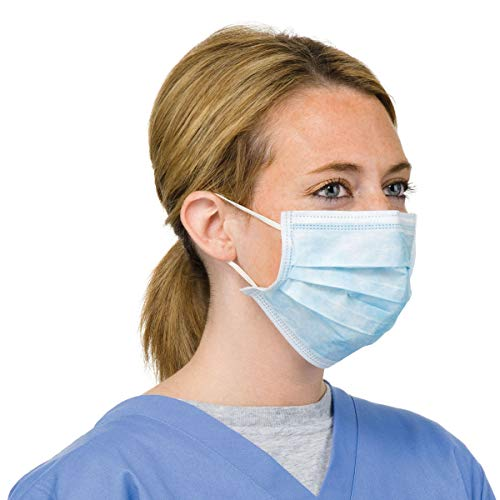 Real Pack - Confezione da 20 protezioni per il viso chirurgiche con anelli per le orecchie, 3 strati