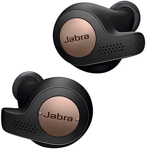 Jabra Elite Active 65t Alexa Enabled True Wireless Sports Earbuds, 15 Hours Battery, Copper Black, Designed in Denmark