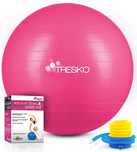 TRESKO® Pelota de Gimnasia Anti-Reventones | Bola de Yoga Pilates y...