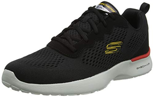 Skechers Skech-Air Dynamight-Tuned Up, Zapatillas para Caminar Hombre, Negro (BLK Black Engineered Mesh/PU/Gray Trim), 44 EU