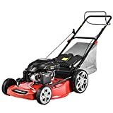 PowerSmart Self Propelled Lawn Mower, 22 Inch Gas Lawn Mower with Bag, 170CC 4-Stroke Engine, 3 in 1 Gas Powered Mower, 5 Cutting Heights Adjustable (1.2''-3.5'' ), PSM2322SR