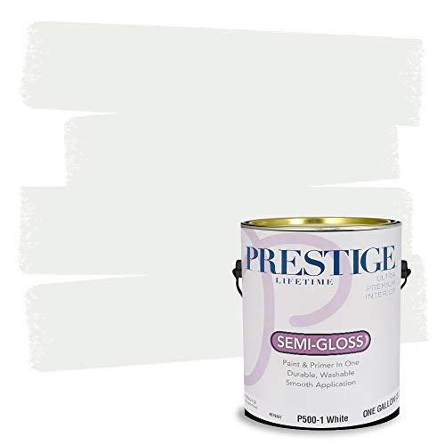Prestige Interior Paint and Primer In One, 1-Gallon, Semi-Gloss, White