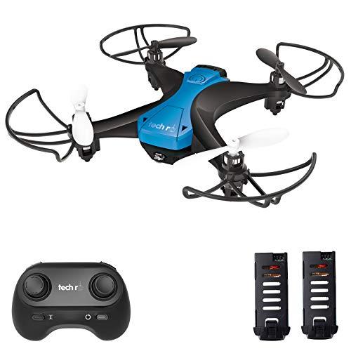 tech rc Mini Drone Facile da Pilotare con Due Batterie Funzione di Un Pulsante di Decollo/ Atterraggio ,modalit Senza Testa 3D Flip Protezioni a 360Buon Regalo per Bambini e Principianti