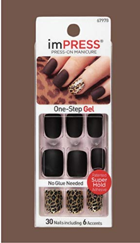 Kiss ImPress Press- On Gel Short Length Nails Claim to Fame