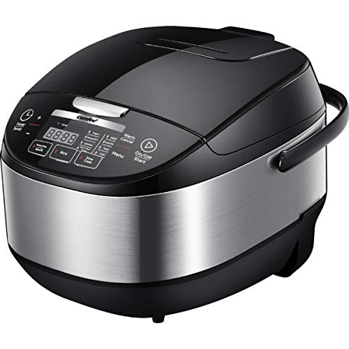 COMFEE' 5.2Qt (20 cups Cooked) Asian Style Programmable All-in-1 Multi Cooker, Rice Cooker, Slow cooker, Steamer, Sauté, Yogurt maker, Stewpot with 24 Hours Delay Timer and Auto Keep Warm Functions
