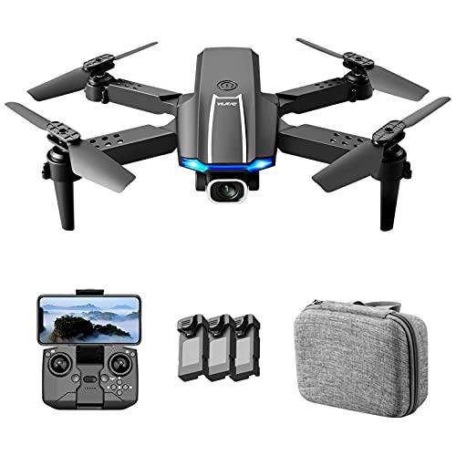 YLR/C S65 RC Drone con Fotocamera 4K Doppia Fotocamera RC Quadricottero con Funzione Traiettoria Controllo Gesto di Volo Sacchetto di Immagazzinaggio Pacchetto 3 Batteria