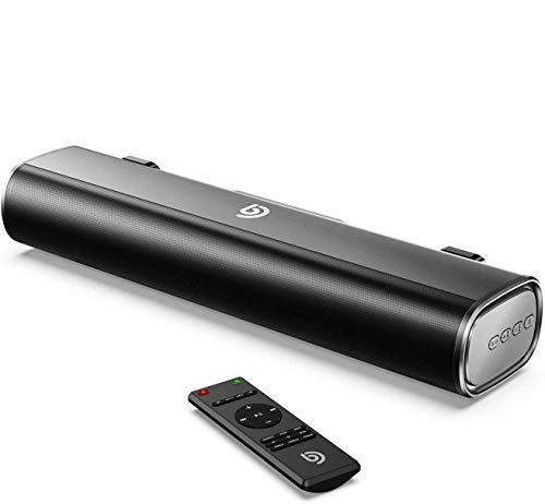 Bomaker Mini Barre de Son 16 - inch Sound Bar 50W avec entrée Bluetooth 5.0, câble Optique, AUX ou USB pour TV, PC, Ordinateur, Téléphone Portable, Videoprojecteur, PS4, Xbox - Tapio I