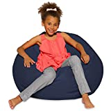 Posh Beanbags Bean Bag Chair, Large-38in, Solid Navy Blue