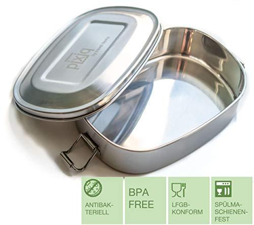 travel items kompakte Edelstahl Brotdose BPA frei, antibakteriell, Lunch-Box, Zero Waste Frischhaltedose 600ml