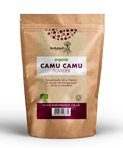 Natures Root Camu Camu en Poudre BIO 60g - VITAMINE C et ANTIOXYDANTS | EXCELLENT ANTI-ÂGE |TONIFIANT et STIMULANT