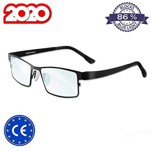 KLIM Protect Occhiali di Nuova Generazione - Proteggi i Tuoi Occhi dagli Effetti nocivi della Luce Blu degli schermi - Anti affaticamento degli Occhi Anti UV PC, Smartphone, TV, SCHERMI dei Tablet