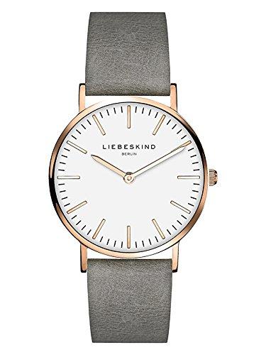 Liebeskind Berlin Damen Analog Quarz Armbanduhr mit Lederarmband LT-0085-LQ