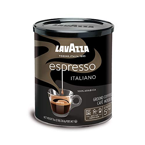 Lavazza Espresso Italiano Ground Coffee Blend, Medium Roast, 8-Ounce Cans,Pack of 4 (Packaging may vary) 2