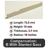 Bone Guitar Saddle - Fits Many Newer Yamaha Guitars - 75.2 mm Length