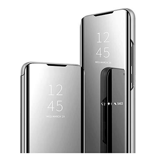 Samsung Galaxy A10 Spiegel Hülle - ultradünnen Clear View mit Standfunktion für Samsung Galaxy A10 Luxury Anti-Scratch Bookstyle Galaxy A10 Flip Cover Schutzhülle-6