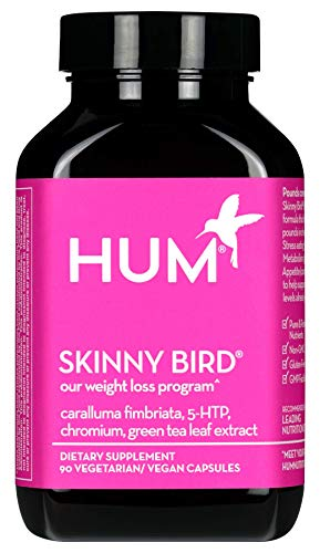 HUM Skinny Bird - Weight Management Support Supplement - Green Tea Extract, 5-HTP, Chromium & Caralluma Fimbriata Boost Metabolism, Help Minimize Stress Response & Curb Appetite (90 Vegan Capsules) 1