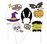Halloween photo booth props, Halloween decorations, attached to the stick NO DIY REQUIRED only by USA Sales Seller