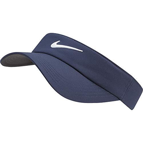 Unisex Nike Golf Visor, Dri-FIT & Adjustable Sun Visor for Women and Men, Obsidian/Anthracite/White