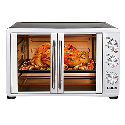 LUBY Large Toaster Oven Countertop, French Door Designed,...