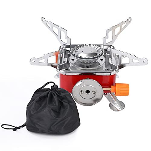 LERT Réchaud à gaz portable pour camping - Petit - Pliable - Coupe-vent -...