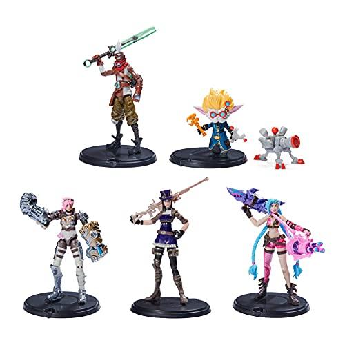 League of Legends - 10cm Actionfiguren 5er Pack (Vi, Caitlyn, Ekko, Heimerdinger und exklusiver...