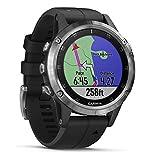 Garmin Fenix 5 Plus Smartwatch Multisport con Mappe GPS, Musica e Pagamento Contactless, Glass 47...