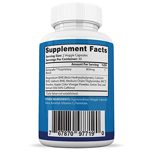 Pure Keto Trim 800 Advanced BHB Ketogenic Supplement Exogenous Ketones Ketosis for Men Women 60 Capsules 2 Bottles 5