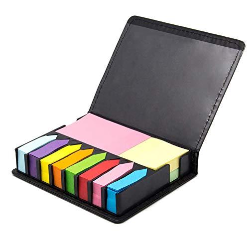 TFHEEY 1000 Piezas Notas Autoadhesivas, Íncluye Notas Adhesivas en 10 Colores y 3 Tamaños, Adecuado para Oficina, Escuela o Lugar de Trabajo (1000 Piezas)