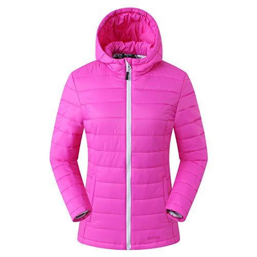 Amazon Brand: Eono Essentials, giacca termica imbottita, da donna, colore rosa, taglia XS