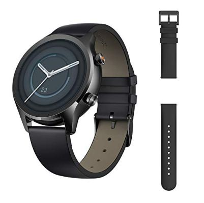 TicWatch C2 Plus 1GB RAM Smart Watch Wear OS by Google GPS NFC Payment IP68 Water and Dust Proof Smartwatch, Two Straps Included, iOS and Android Compatible-Onyx