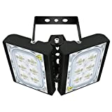 60W LED Flood Light, STASUN 5400lm Outdoor Security Lights, OSRAM LED Chips,6000K Daylight, Adjustable Heads, IP66 Waterproof Outdoor Lighting for Yard, Street, Patio