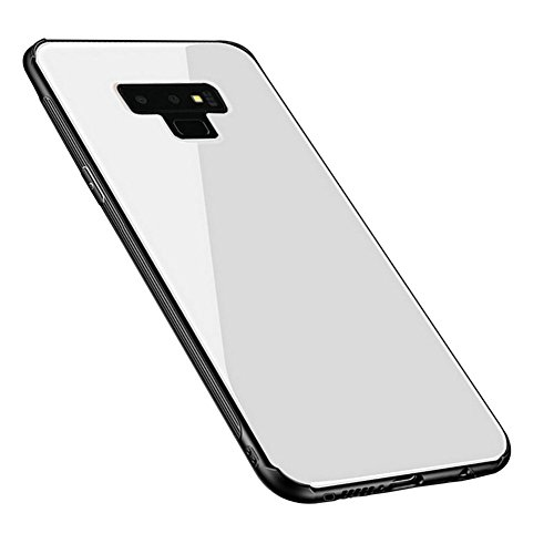 Kepuch Quartz Case Capas TPU &Voltar (Vidro Temperado) para Samsung Galaxy Note 9 - Branco
