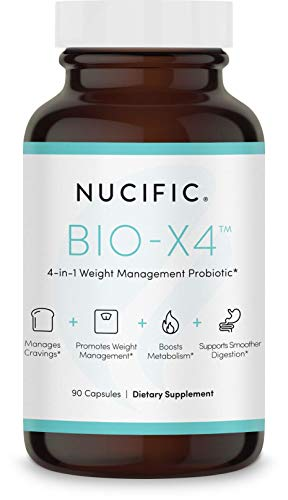 Nucific® BioX4 4-in-1 Weight Management Probiotic Supplement, 90 Count. 1