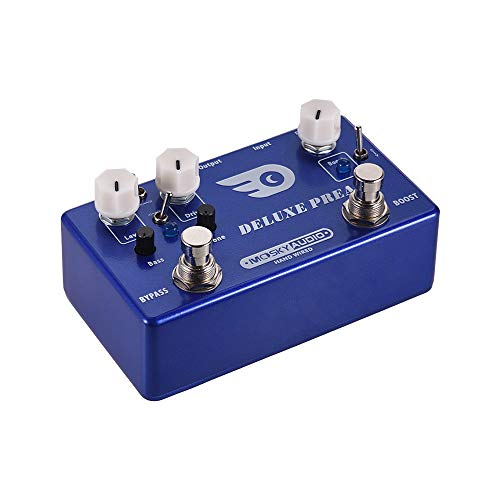 CAMOLA Overdrive Guitar Pedal Preamp Guitar Effect Pedal 2 In 1 Boost Classic Overdrive Effects Pedal Metal Shell with True Bypass