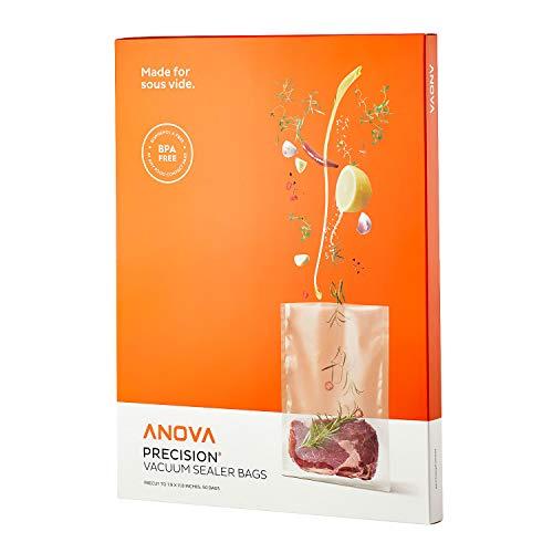Anova Culinary ANVB01 Anova sacchetti sottovuoto pre-tagliati, in plastica, trasparente