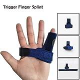 Trigger Finger Splint,Adjustable Finger Support Brace Bonus Fastening Tape for Alleviating Finger Locking,Popping,Bending,Stiffness,Tendon Release and Pain Relief from Stenosing Tenosynovitis
