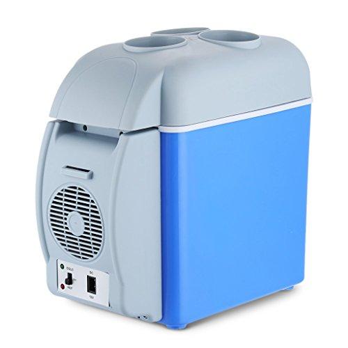 QIHANGCHEPIN Congelatore da auto portatile 12V da 12 litri Mini congelatore da auto a uso doppio da...