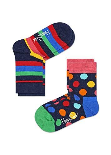 Happy Socks Calzini Collezione Moda Pack 2 Paia (0-12 Mesi, 6002)