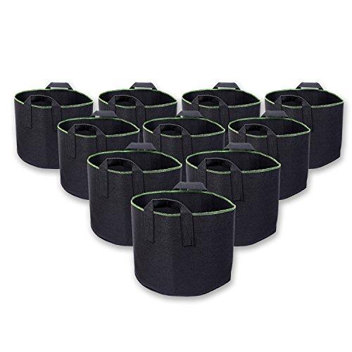Schramm® 10er Pack 30 Liter Pflanzsäcke aus Vliesstoff Pflanzsack 10 Stück Garten Sack aus Fliesstoff zum Bepflanzen Pflanzgefäß Pflanzbehälter Pflanzbeutel