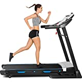 Folding Treadmill for Home with Automatic Incline, 3.25HP, Bluetooth Speaker, 300 lbs Weight Capacity, Electric Walking & Running Treadmill with Large Display Console & App Control (Black)