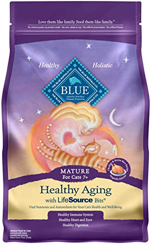 Blue-Buffalo-Healthy-Aging-Natural-Mature-Dry-Cat-Food-Chicken-Brown-Rice-7-lb