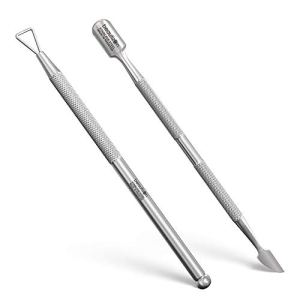 GLAMOVE Nail Cuticle Pusher Set - Stainless Steel Cuticle Remover Gel - Professional Cuticle Cutter and Nail Cleaner… 25