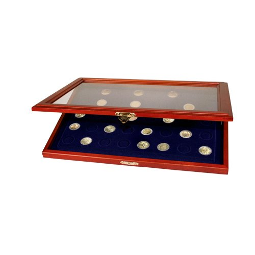 Münzen-Vitrinen für 2-Euro-Münzen in Kapseln: Vitrine für 35 St. 2-Euro-Münzen in Kapseln